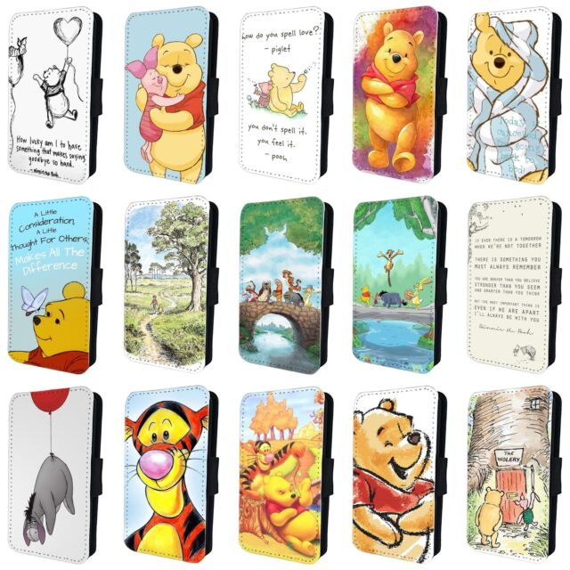 Winnie The Pooh Eeyore Tigger Piglet Flip Phone Case Cover For Iphone 5 6 7 8 X