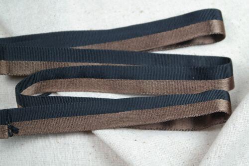 "2 yards 3//4/"" copper black vtg tubular rayon grosgrain satin ribbon dress straps"