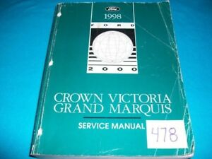 GRAND 1998 MANUAL VICTORIA FACTORY SER CROWN MARQUIS qPwv5