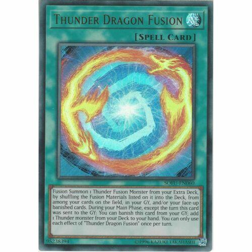 *** THUNDER DRAGON FUSION *** ULTRA RARE SOFU-EN060 NM YUGIOH!