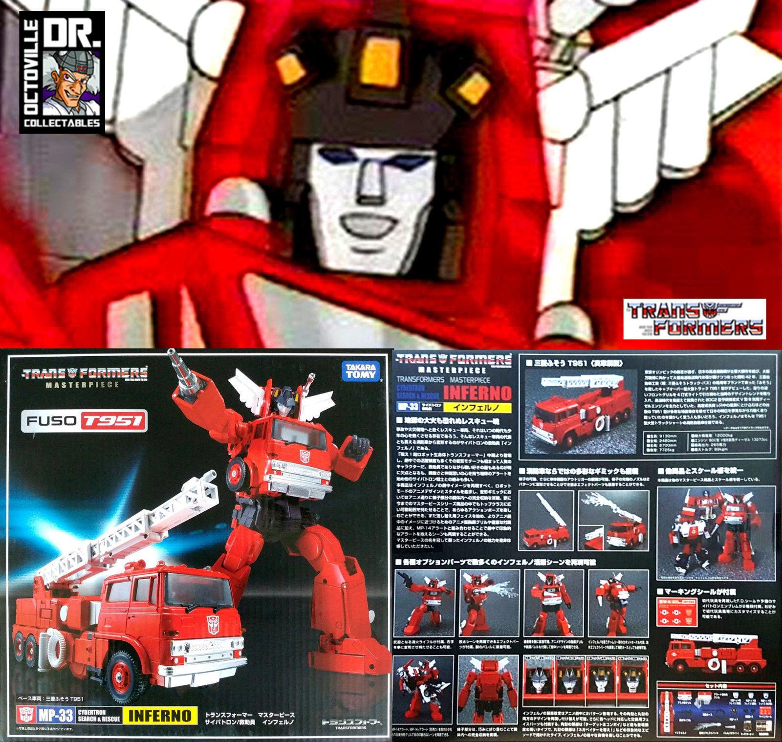 Transformers TAKARA AUTENTICO CAPOLAVORO MP-33 INFERNO Nuovo di Zecca