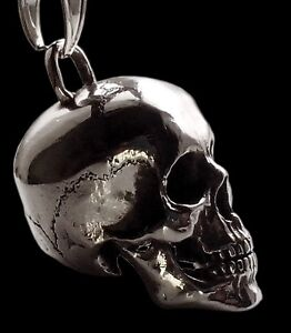 Sterling Silver Skull Pendants 925 sterling silver skull pendant designed from real skull huge image is loading 925 sterling silver skull pendant designed from real audiocablefo