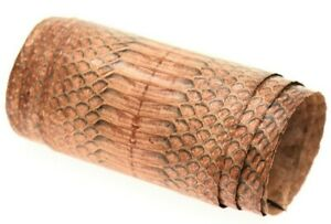 Cobra Snake Skin Hide Leather Snakeskin Craft Supply Soft Cranberry ETA 1wk