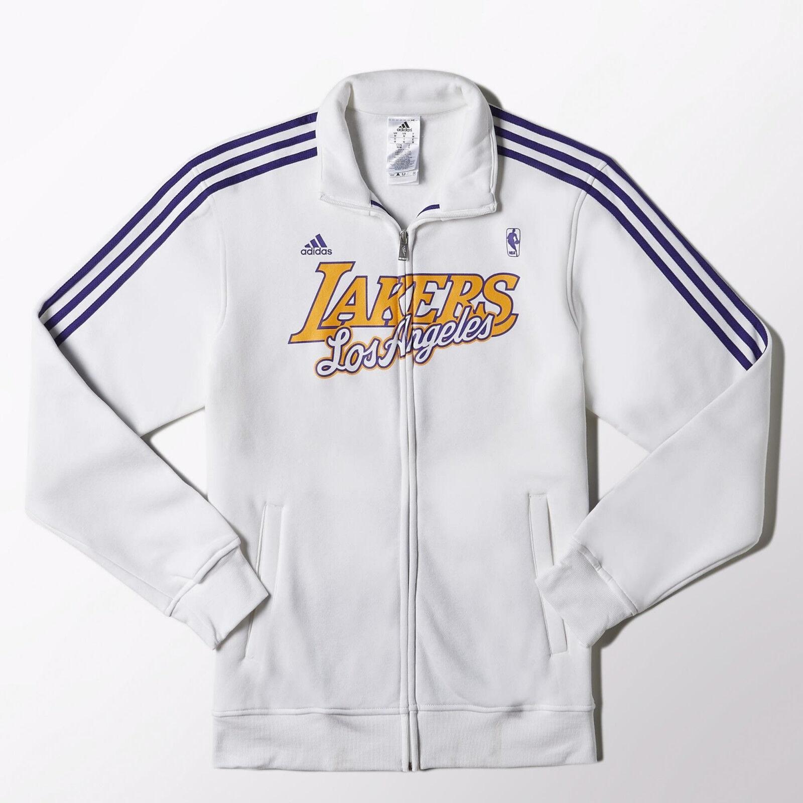Los Angeles Lakers Authentic Nba chaqueta de pista lal Adidas f87776 Tamaño Mediano