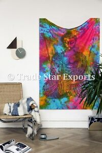 Lord-Buddha-Tie-Dye-Tapestry-Hippie-Wall-Hanging-Boho-Throw-Meditation-Wall-Art