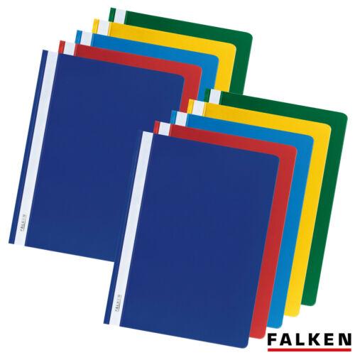 FALKEN Schnellhefter Plastikhefter DIN A4 PP Kunststoff Hefter 1 VPE = 10 Stück