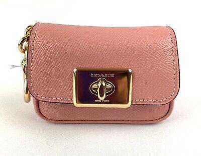Coach Mini Cassidy Lilac Leather Coin Case Charm Keychain F73858