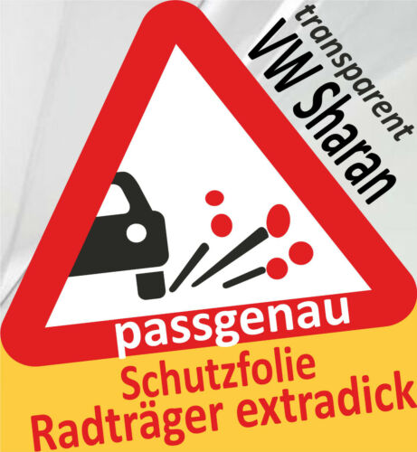 2x Film de protection original porte-vélos radträger sur hayon vw sharan