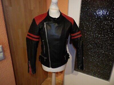 Geile 70er 80er Jahre Motorrad-lederjacke Bikerjacke Moto Cuir Scrambler Gr.50