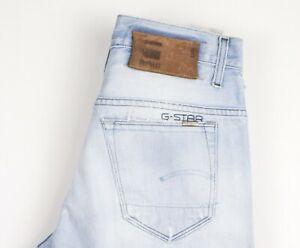 G-Star Brut Hommes 3301 Slim Jeans Jambe Droite Taille W30 L32 ATZ1616