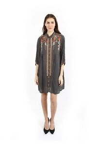 Johnny-Was-Clarissa-Gray-Dress-Embroidered-C85844-New-Boho-Chic