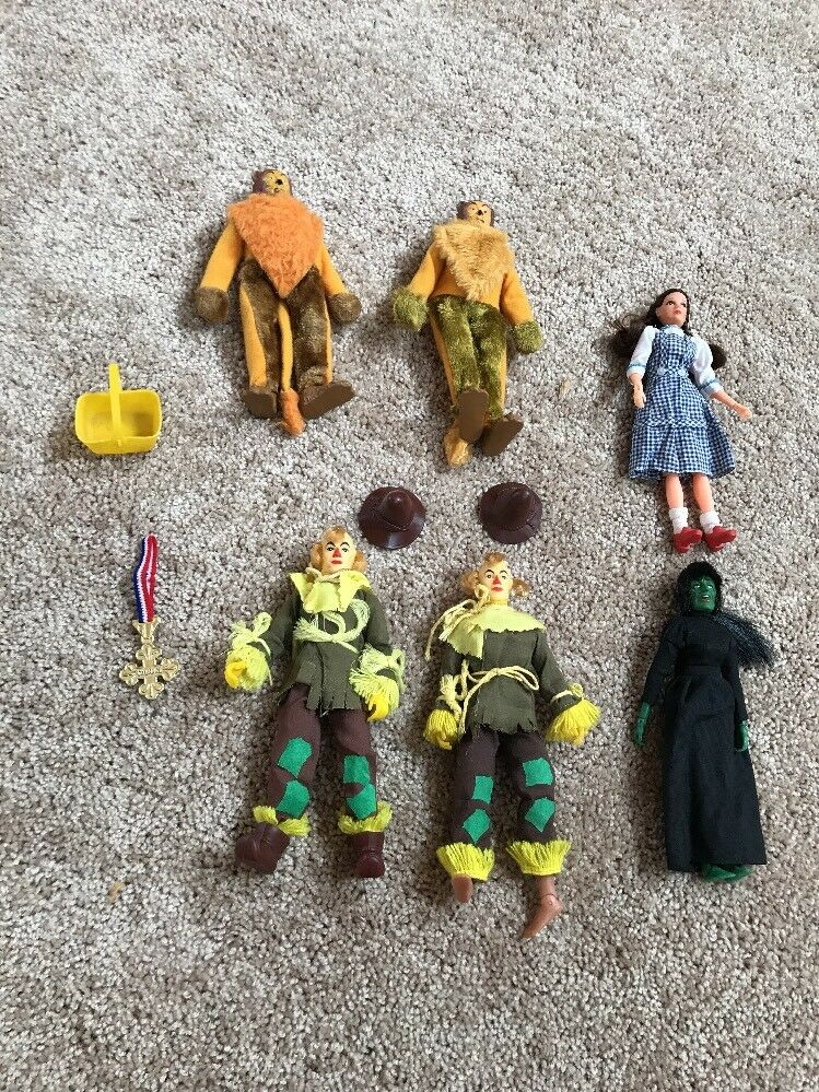 1970's Mego Wizard of Oz Lot Of 6 Scarecrow Lion  Witched Witch