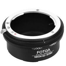 FOTGA Adaptador para Nikon G AF-S Montaje de La Lente para Canon EOS M M2 M3