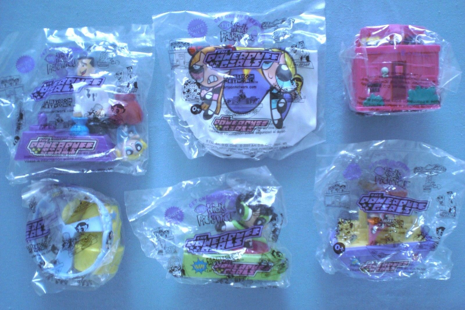 Dairy Queen 2001 - Power Puff Girls - Complete Set of 6 MIP