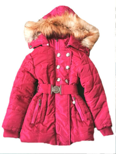 10 8 GIRLS PADDED WINTER COAT WITH HOOD BLACK SIZE 4 6 12 /& 14 YEARS