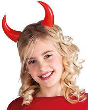 Klassische Teufelshörner für Kinder NEU - Karneval Fasching Hut Mütze Kopfbedeck