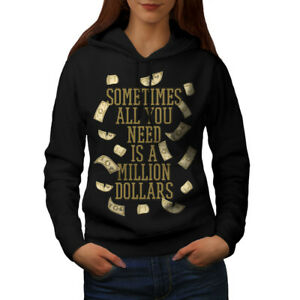 wellcoda Make Money Dollar Mens Sweatshirt Dollars Casual Jumper