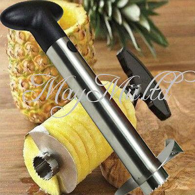 Fruit Pineapple Corer Slicer Peeler Cutter Parer Knife Kitchen Tool Stainless O