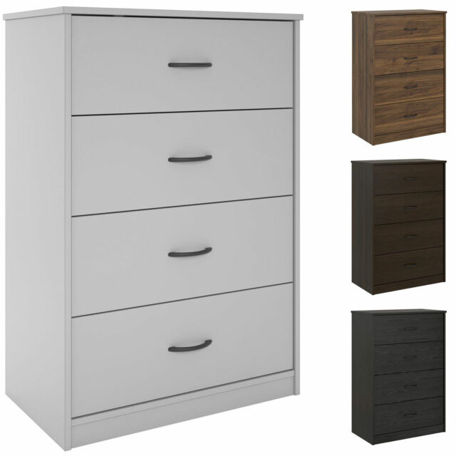 . 40  Tall 4 Drawer Modern Dresser Chest Bedroom Storage Wood Furniture 6  Finishes