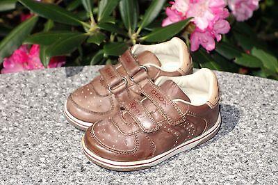 9190083e37792a Geox Sport Lauflern Schuhe Sneakers Jungen Halbschuhe Klett Leder Gr.21 Neu