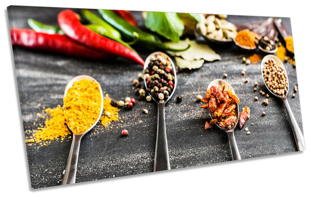 Cooking Ingrotients Kitchen Picture PANORAMIC CANVAS WALL ART Print