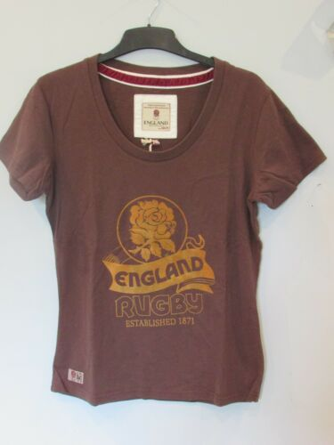 ENGLAND RUGBY RFU OFFICIAL WOMENS DISTRESSED VINTAGE TEE SHIRT T-SHIRT ALL SIZES