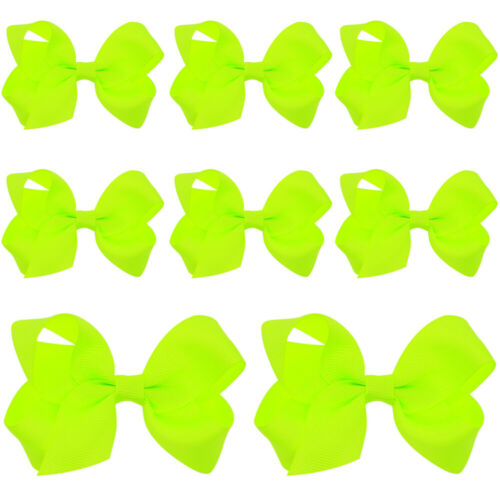 8 PCS Baby Girl Cute Bow Hair Clips Hairpins Solid Color Kids Hair Accessories