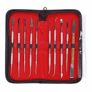 10-unidades-set-ACERO-INOX-Dentista-DIENTES-Cera-Tallar-HERRAMIENTAS-INSTRUMENTO