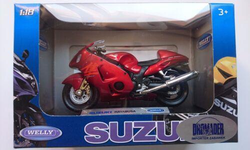 WELLY SUZUKI GSX 1300 R HAYABUSA 1:18 DIE CAST MODEL NEW LICENSED MOTORCYCLE