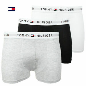 New-in-Box-3-Three-Pack-Men-039-s-Tommy-Hilfiger-Cotton-Stretch-Boxer-Brief-Trunks