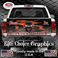 Firefighter First In Truck Truck Tailgate Wrap Vinyl Graphic Decal Sticker Wrap
