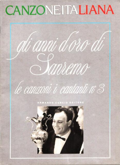 FASCICOLO CANZONE ITALIANA GLI ANNI D'ORO DI SANREMO LE CANZONI E I CANTANTI N.3