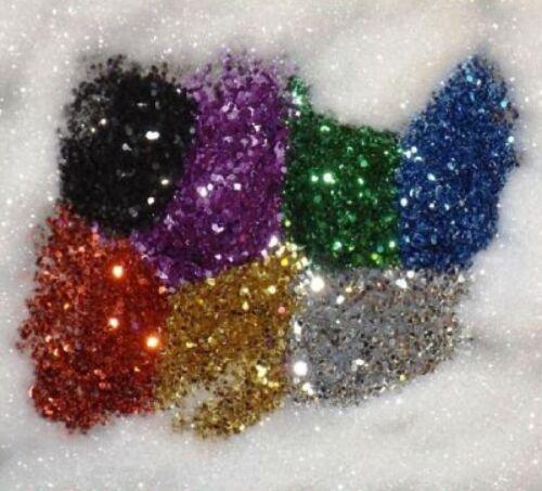 25 Kg A Granel Paquete libre de polvo brillo selección de 8 Colores artes manualidades fase-Artesanales