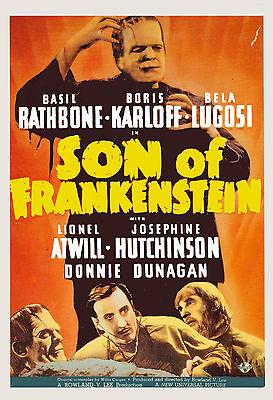 Son of Frankenstein 1939 Bela Lugosi Boris Karloff Horror movie poster 12
