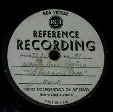 ORIGINAL GRATEFUL DEAD 1ST ALBUM REJECTED PROGRAM ACETATE 33 1/3 Mono