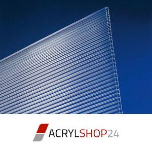 Polycarbonat-Stegplatten-Doppelstegplatten-6-mm-2-fach-klar-glasklar-Neu