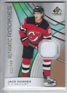 2019-20-UD-SP-GAME-USED-JACK-HUGHES-RC-JERSEY-599-AUTHENTIC-ROOKIE-200-Devils