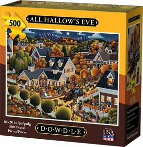 500-Pieza-Rompecabezas-todos-Hallow-039-s-Eve-por-Dowdle-sellado-de-fabrica-Nuevo