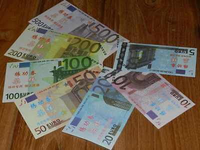 Lot 7 Billets EURO - 5 10 20 50 100 200 500 - SPECIMEN - Test ECHANTILLONS NEUF