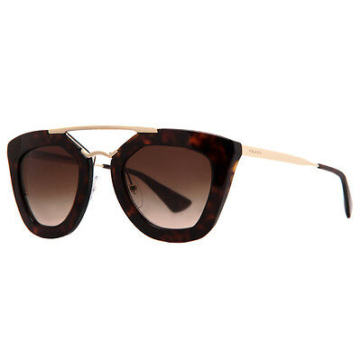 Prada SPR 09Q Cinema 2AU-6S1 Havana Brown Gold Women's Cat Eye Sunglasses