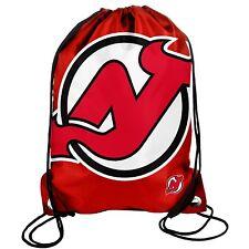 New Jersey Devils Drawstring Back Pack/Sack Gym Bag Tote NHL backpack BIG LOGO