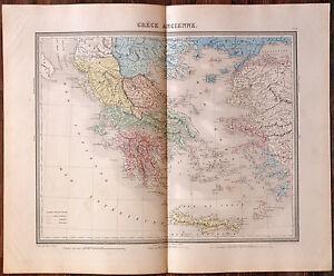 Carte de la GRECE ANCIENNE -1874. 43 x 53 cm. hRxJYjFT-09102909-665506675