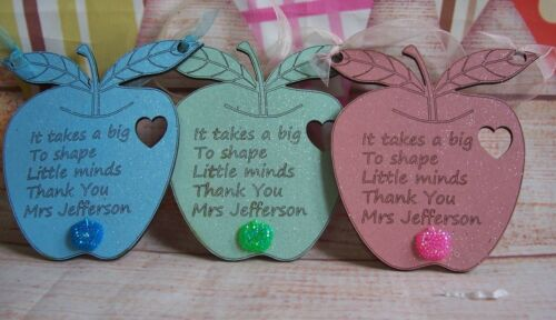 TEACHER  APPLE Personalised Gift MDF Wooden