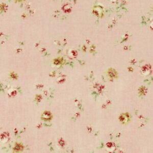 Cottage-Shabby-Chic-Lecien-Durham-Quilt-Roses-Floral-Fabric-31928L-20-Pink-BTY