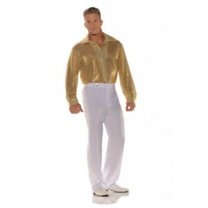 Underwraps Gold Sequin 70's Disco Shirt Adult Mens Halloween Costume 28591
