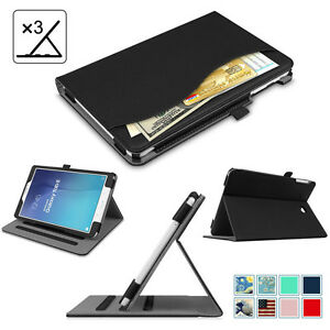 For-Samsung-Galaxy-Tab-E-9-6-8-0-Case-Multi-Angle-View-Stand-Cover-w-Pocket