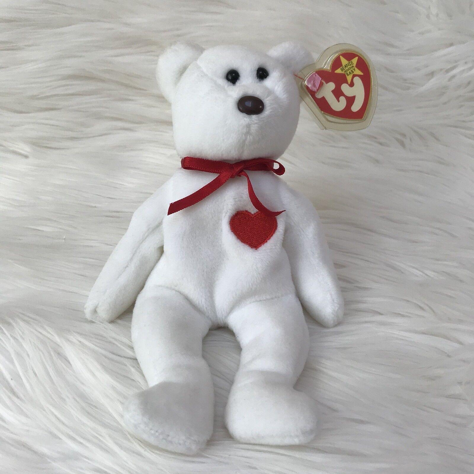 Ty beanie baby valentino 4058 teddybär braune nase mit tag - fehler