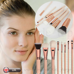 UK-8Pcs-Cosmetic-Makeup-Brush-Face-Powder-Blusher-Eye-Shadow-Brushes-Contour-Set