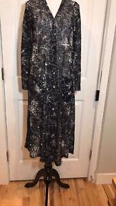 Nwt Lularoe Lindsay Cardigan Size M Gray & White Heather Women's Clothing