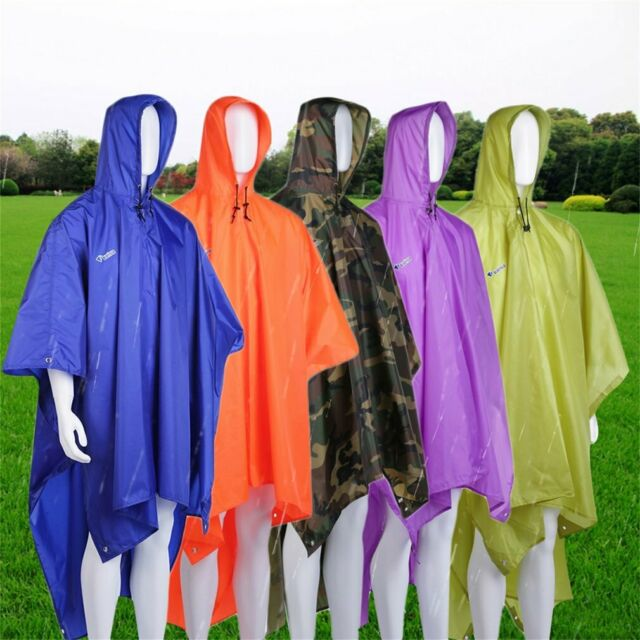 3 in 1 Multi-functional Raincoat Poncho Tent Canopy Awning Camping Ground Mat HD